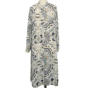 H&M Sheer Extra Long Button Down Shirt 14